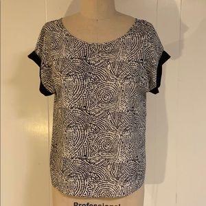 Cynthia Rowley woven print blouse